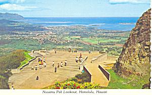 Nuuanu Pali Lookout Honolulu Hawaii Postcard cs2491 (Image1)
