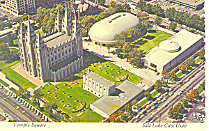 Salt Lake City Utah Temple Square Postcard cs2492 (Image1)
