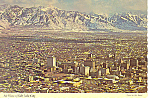 Salt Lake City,Utah,Aerial View Postcard (Image1)