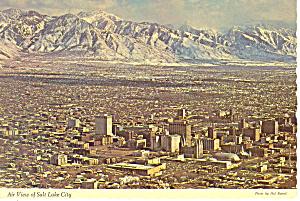 Salt Lake City Utah Aerial View Postcard cs2494 (Image1)