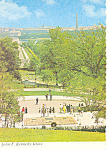 JFK Grave,Arlington National Cemetery,VA Postcard (Image1)