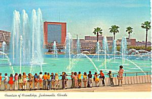 Friendship Fountain Jacksonville Florida Postcard cs2514 (Image1)