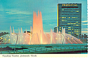 Friendship Fountain Jacksonville Florida Postcard Cs2516