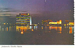 Skyline at Night Jacksonville Florida Postcard cs2518 (Image1)
