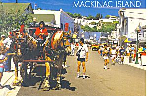 Main Street, Mackinac Island,MI Postcard (Image1)