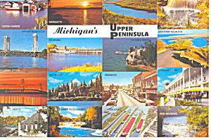 Views of Michigan's Upper Peninsula Postcard (Image1)