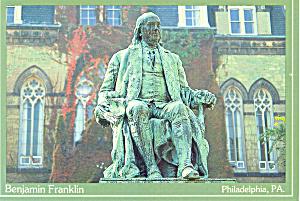 Benjamin Franklin Statue Postcard (Image1)