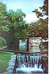 C & O Canal Locks Postcard (Image1)