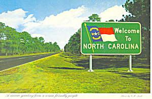 Welcome to North Carolina Highway Sign cs2625 (Image1)
