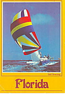 Sail Boating In Florida Postcard Cs2628