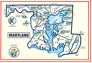 State Map of Maryland (Image1)