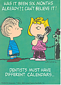Snoopy Characters Dental Apointment Postcard Cs2701