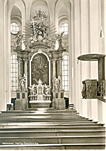 Heilig Geistkirche Munchen Germany RPPC cs2712 (Image1)