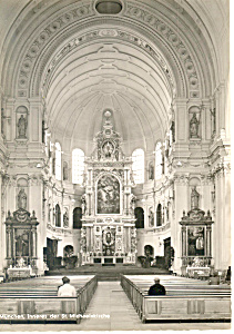 Interior St Michaelkirche Munchen Germany RPPC cs2713 (Image1)