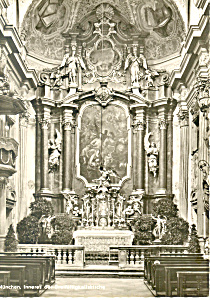 Interior Dreifaltgkeitskirche Munchen Germany RPPC cs2714 (Image1)