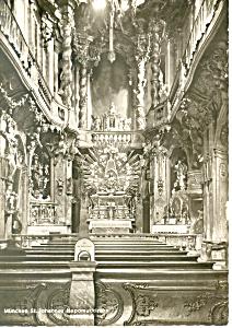 Interior St Johann Nepomukkirche, Munchen,Germany RPPC (Image1)