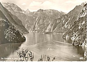 Der Konigssee m. Stein, Mear , Germany RPPC (Image1)