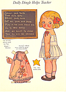 Dolly Dingle Helps Teacher Grace G Drayton Postcard (Image1)