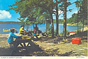 Lake Scene in Shady Grove Postcard (Image1)