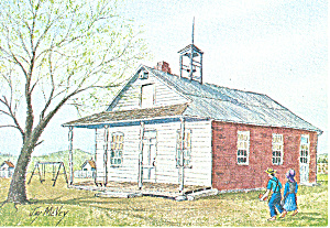 School Days Watercolor by Jay McVey Postcard cs2824 (Image1)