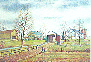 Dutch Country Watercolor by Jay McVey Postcard cs2828 (Image1)