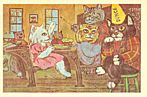 Cats In School Room by James De Musz Postcard cs2835 (Image1)