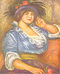Auguste Renoir, Woman with the Rose Postcard (Image1)