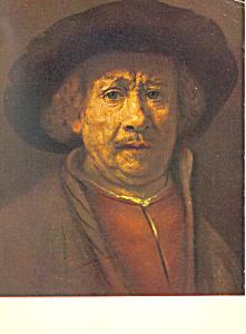 Rembrandt Harmenzs Rijn His Portait of Himself Postcard cs2848 (Image1)