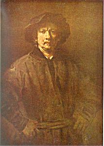 Rembrandt Harmenzs Rijn Large Self Portait Postcard cs2853 (Image1)