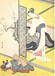 Harunobu Suzuki Hinatsuru The Beauty Postcard cs2858 (Image1)