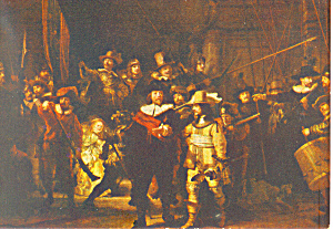 Rembrandt Harmenzs Rijn The Night Watch Postcard (Image1)