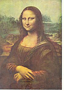 Leonard De Vinci  Mona Lisa Postcard cs2865 (Image1)