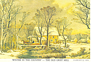 Winter in the Country ,Currier & Ives Postcard (Image1)