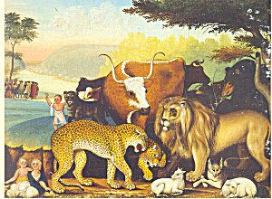The Peaceable Kingdom Edward Hicks Postcard cs2902 (Image1)