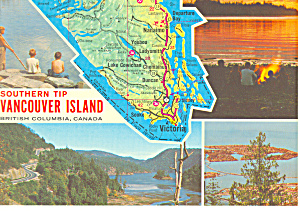 Map Southern Tip Vancouver Island British Columbia Canada Cs2911