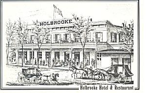 Holbrooke Hotel and Restaurant CA  Postcard cs2942 (Image1)