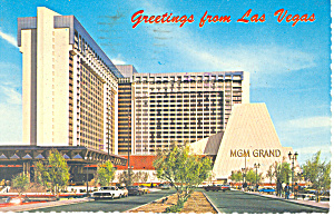 Mgm Grand Hotel Las Vegas Nevada Postcard Cs2946