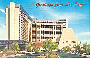 MGM Grand Hotel Las Vegas Nevada Postcard cs2946 (Image1)