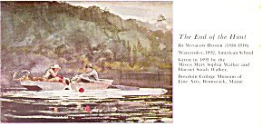 The End of the Hunt  Winslow Homer Postcard cs2962 (Image1)