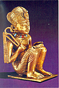 Figure Of The King Tut From A Necklace Postcard Cs2970