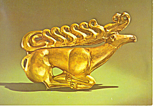 Golden Stag from Lands of the Scythian Postcard cs2972 (Image1)
