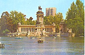 Madrid Spain Retiro Park Basin and Monument cs3054 (Image1)