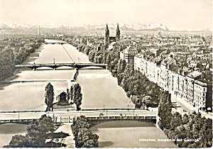 Munchen Germany View of the Isar and the Mountains cs3072 (Image1)