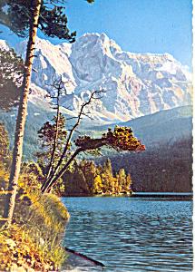 Eibsee, Germany gegen Zugspitze (Image1)