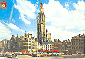 Antwerpen Belgium Grand Square and Cathedral cs3142 (Image1)
