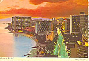 Sunset at Waikiki Hawaii cs3148 (Image1)