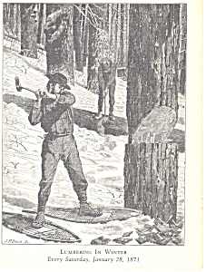 Lumbering in Winter  Winslow Homer Postcard cs3220 (Image1)