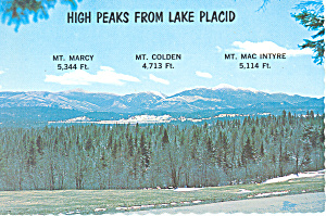 High Peaks from Lake Placid, New York (Image1)