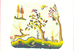 Cover for a Chair Seat,Crewel Embroidery (Image1)