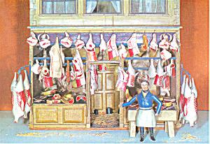 Model of a Butcher s Shop Postcard (Image1)